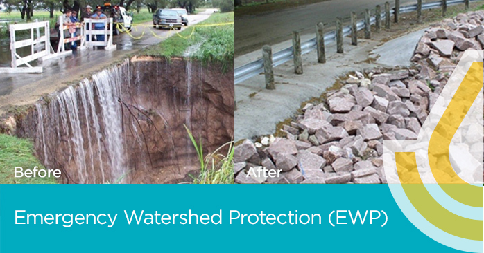 Image of the Emergency Watershed Protection Program Before and After Picture