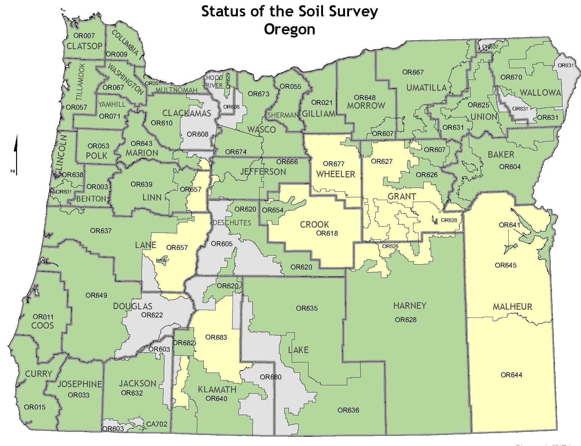 Soil Survey Status Map