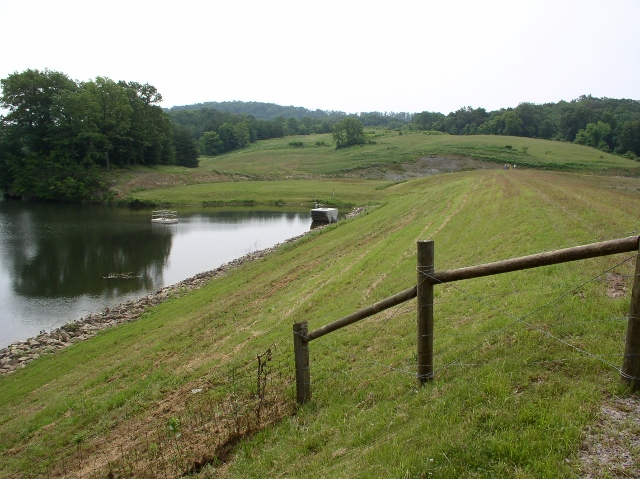 Front slope of dam