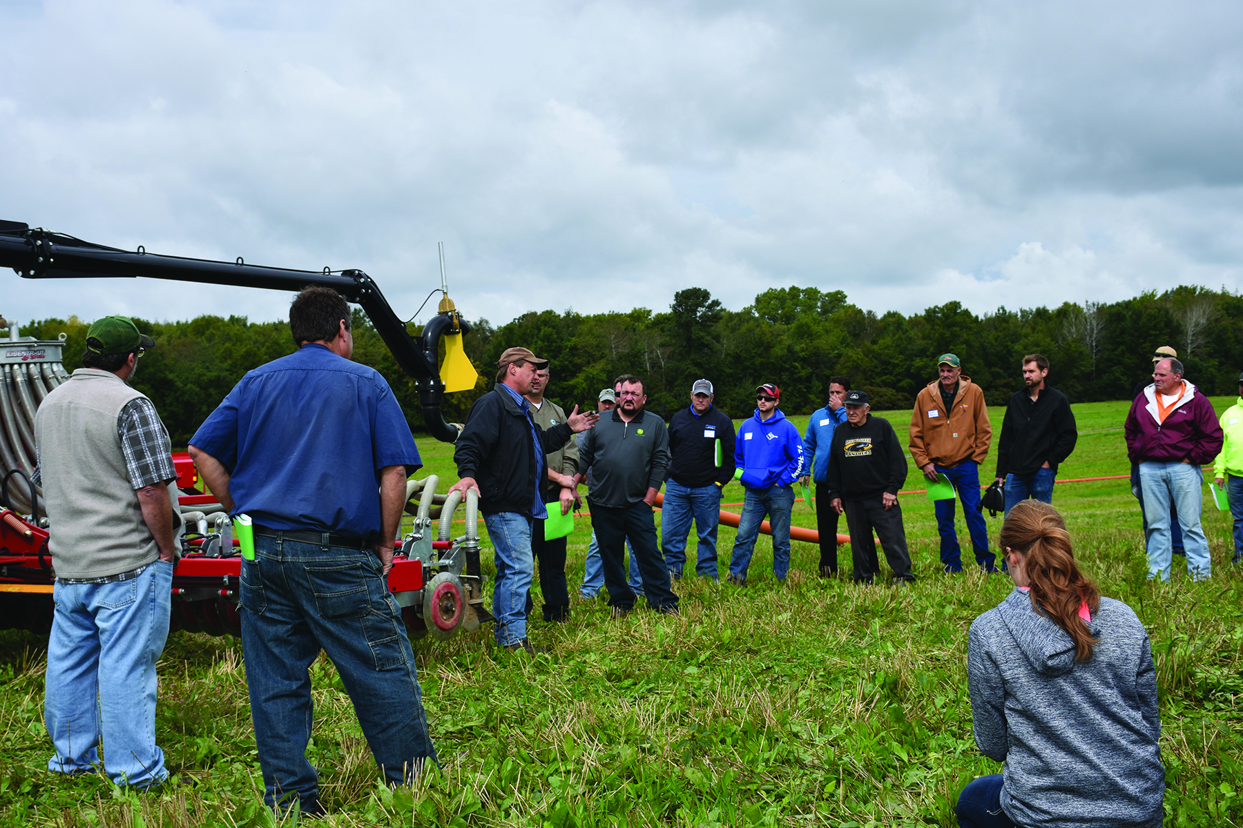 Participants view manure applications