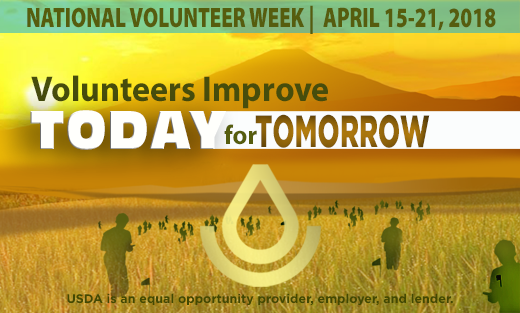 National Volunteer Week April 16-20, 2018