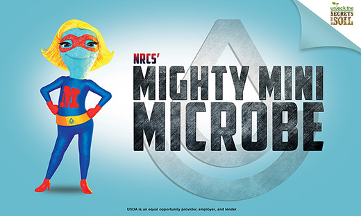 Mighty Mini Microbe main campaign graphic