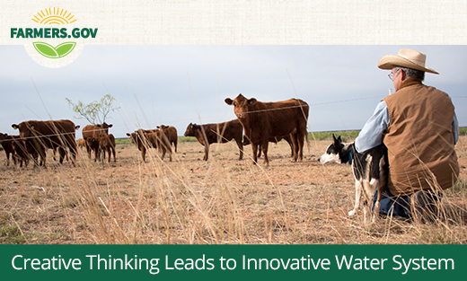 We worked with Texas rancher Kregg McKenny to develop an alternative water source for his cattle in times of drought.