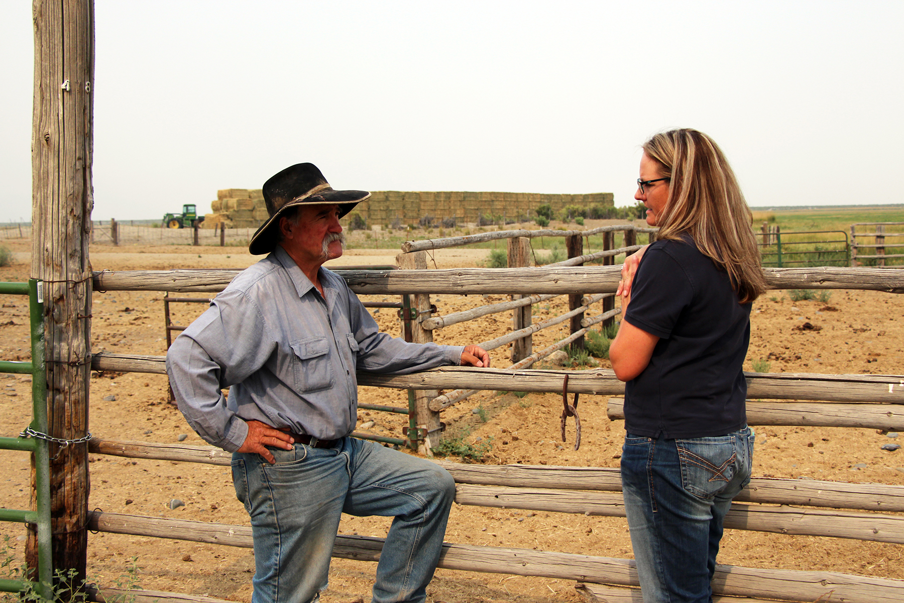 Ranch Manager Tim Dufurrena and NRCS Nevada's Leah Mori talk about conservation