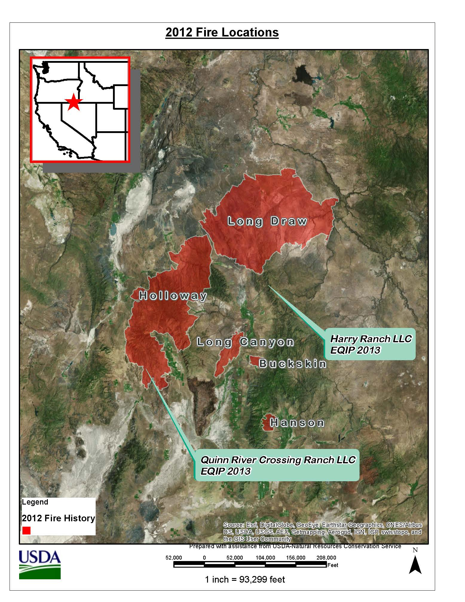 2012 Fire Location Map