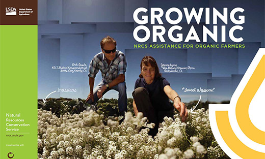 NRCS offers technical and financial assistance to organic growers.