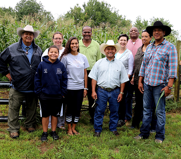 NRCS leaders joined three generations of the Spears family for a tour of Crandall Minacommuck Farm.
