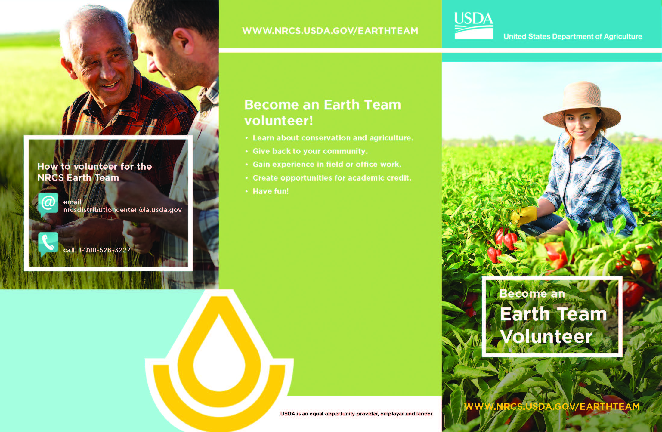 Cover picture of 2018 Earth Team Brochure