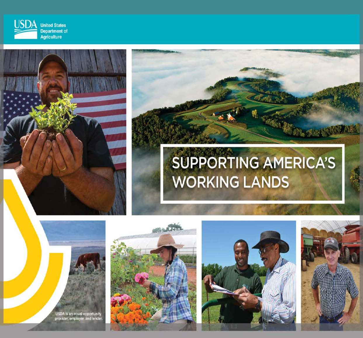 Cover photo of the booklet Supporting America's Working Lands