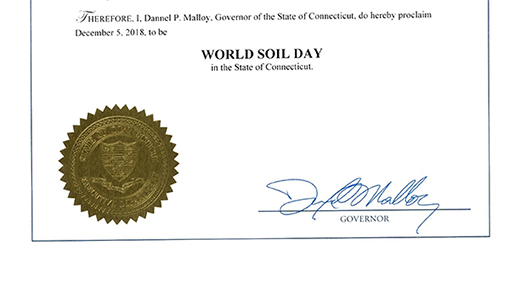 Governor declares December 5 World Soil Day in Connecticut