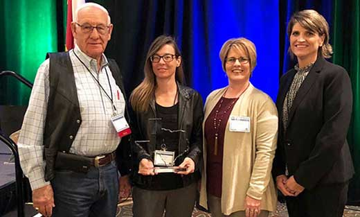 Jennifer Dwyer is recognized as the Texas NRCS 2018 Texas Earth Team Volunteer of the Year.