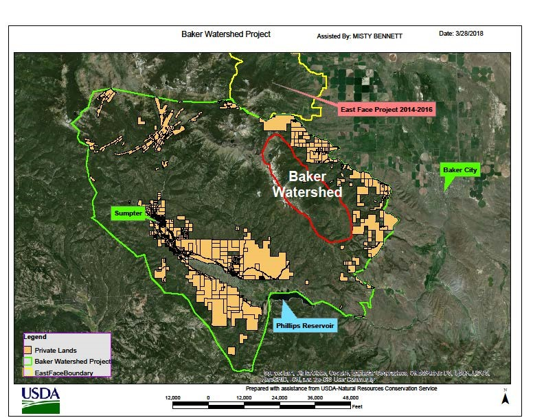 Baker Watershed Forest Health Partnership Map