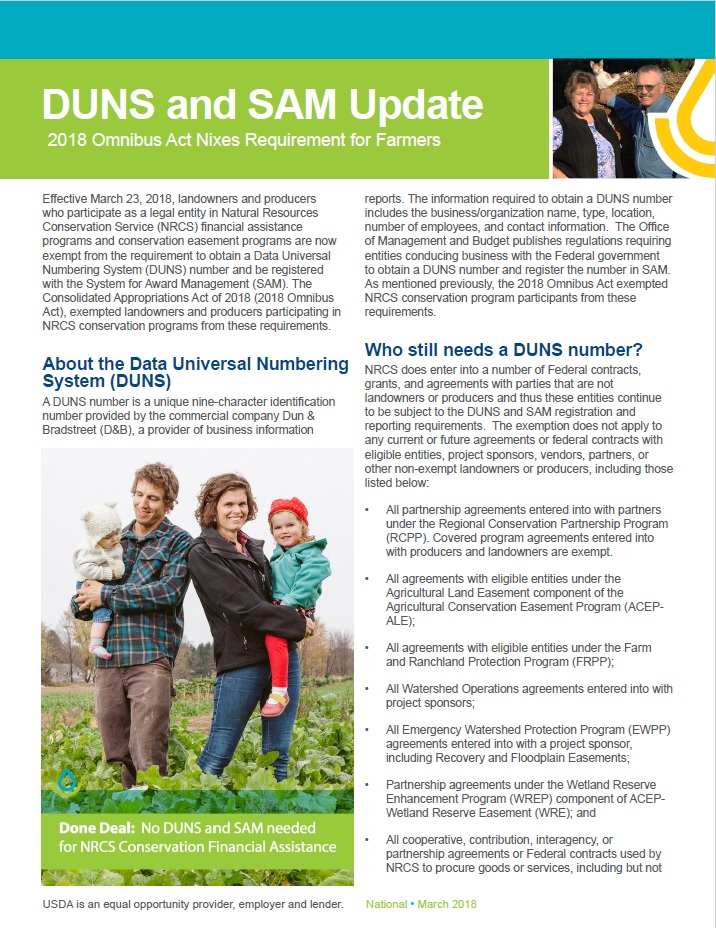 Thumnail of DUNS and SAM factsheet