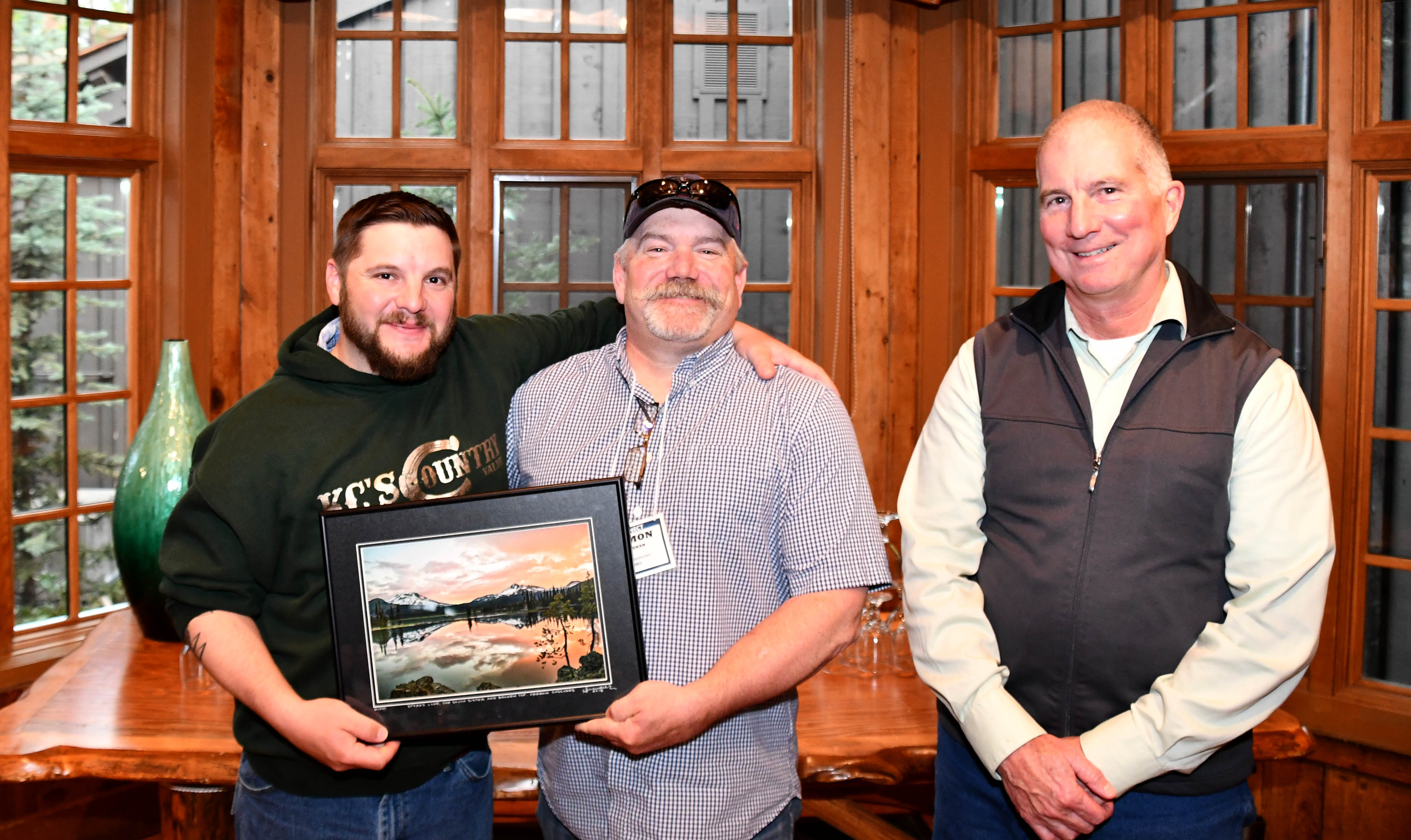 Pictured Left to Right: Chase Schultz of the Wheeler Soil and Water Conservation District (SWCD); Damon Brosnan, District Conservationist for Gilliam and Wheeler counties with the USDA Natural Resources Conservation Service (NRCS); and Kevin Conroy, Acting State Conservationist for NRCS Oregon.
