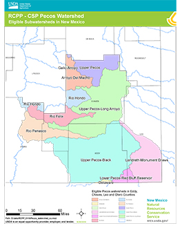 Map of the RCPP - CSP Pecos Watershed