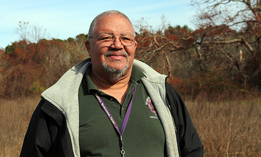 Chuckie Green, Natural Resources Director for the Mashpee Wampanoag Tribe