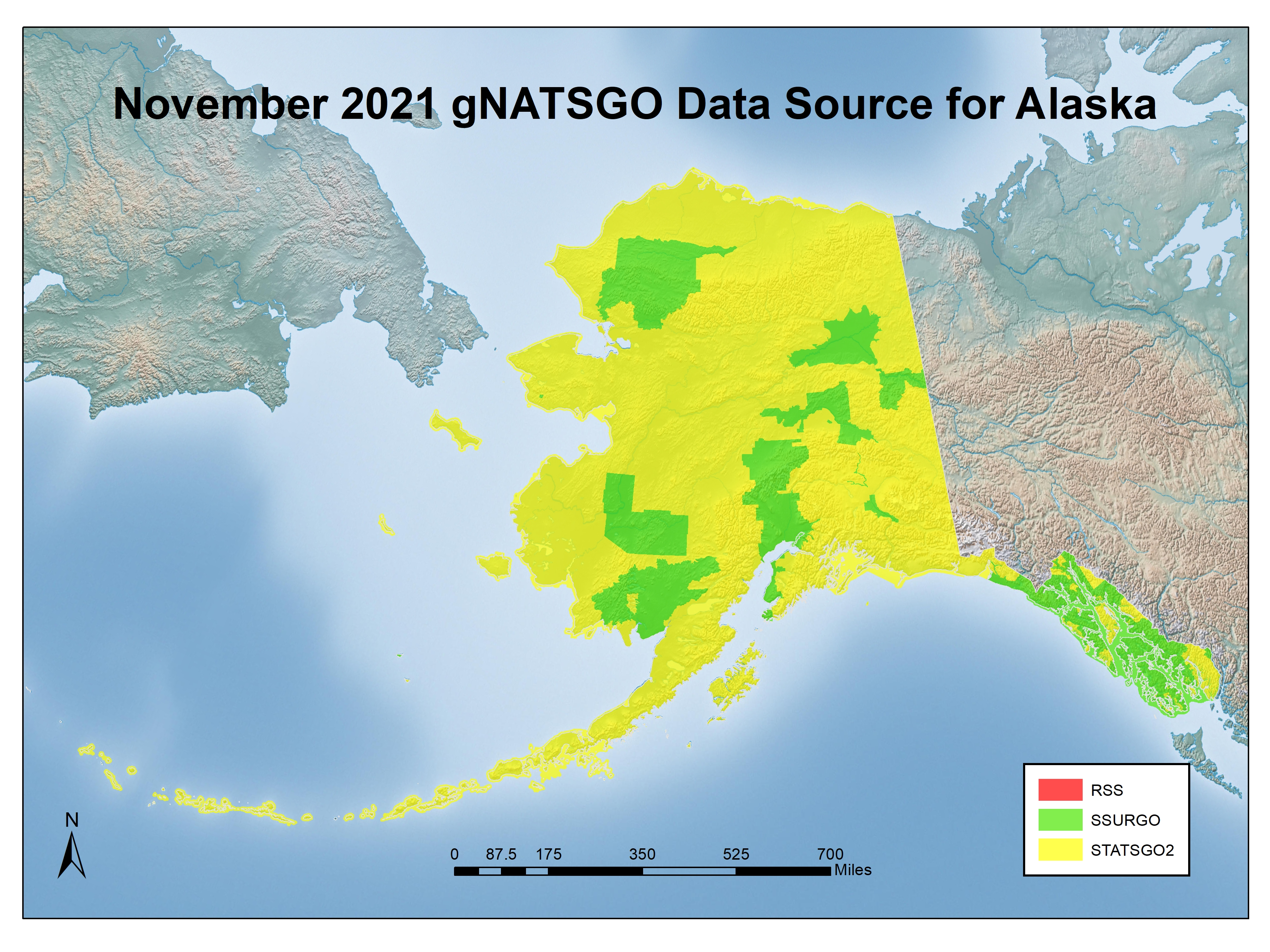 Figure 2. Source of soils information in the 2019 gNATSGO database in the State of Alaska.