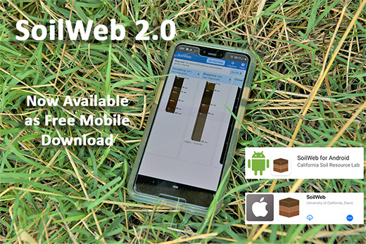 SoilWeb 2.0 now available as a free mobile download from Google Play and Apple's App Store.