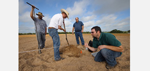 Group examining soils.