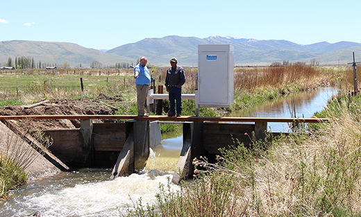 Part of Duck Valley Indian Reservation RCPP project installed