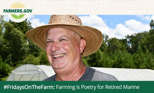 "Fredie Manes, retired Marine and self-proclaimed ""market gardener."""