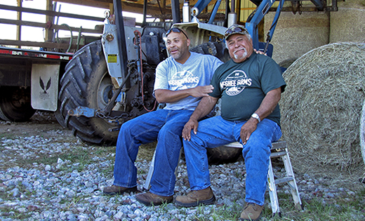 Virginia NRCS salutes our 2019 Civil Rights Advisory Committee Farmers of the Year Calvin T. McGhee, III, and Calvin T. McGhee, Jr.