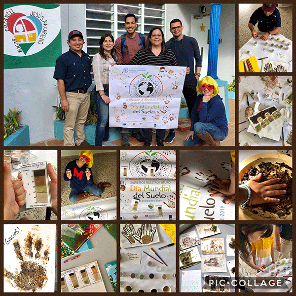 A team of NRCS scientists (Soil Scientists and Biologists) from Puerto Rico, New York and Mississippi held an outreach activity with kids at the Hogar Infantil Jesus Nazareno in Isabela, PR, on Jan. 3rd. Their goal was to provide the kids with entertaining conservation education and to bring them mu