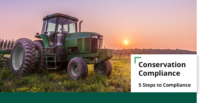 conservation compliance 5 steps banner
