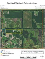 certified wetland determination tech determination aerial photo