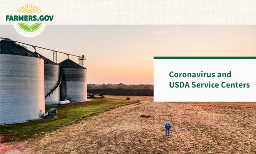 Image of a farm and the the text, Coronavirus