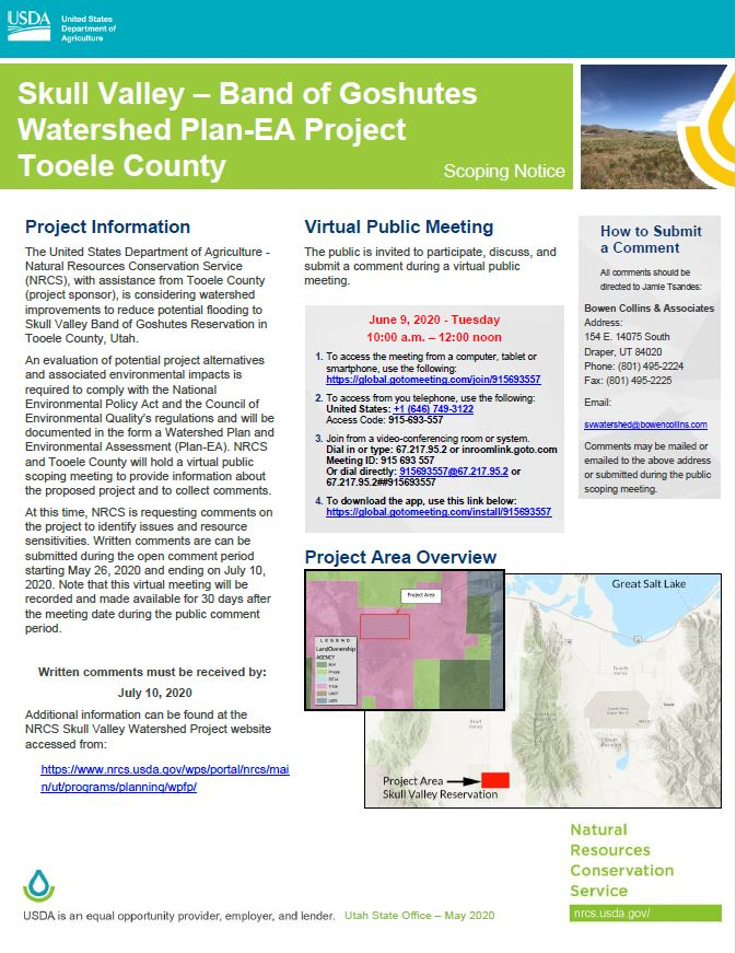 Skull Valley Watershed Public Notice