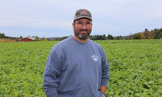 Mike Davidian, owner, Davidian Farm, Northborough, Massachusetts