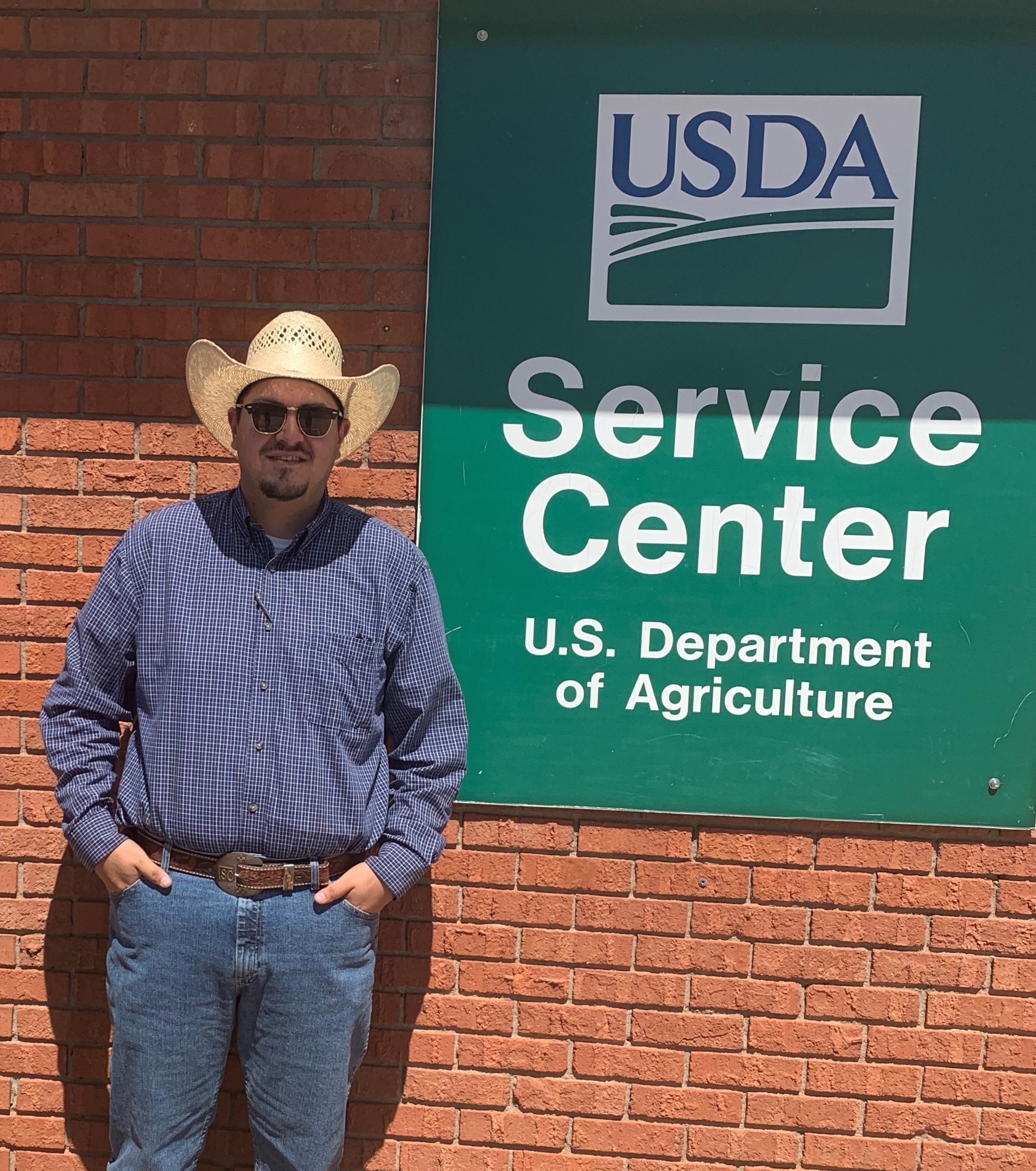 Photo of Lucas Montano, Rangeland Management Specialist with Team 5 selected as NMEOM for July 2020.