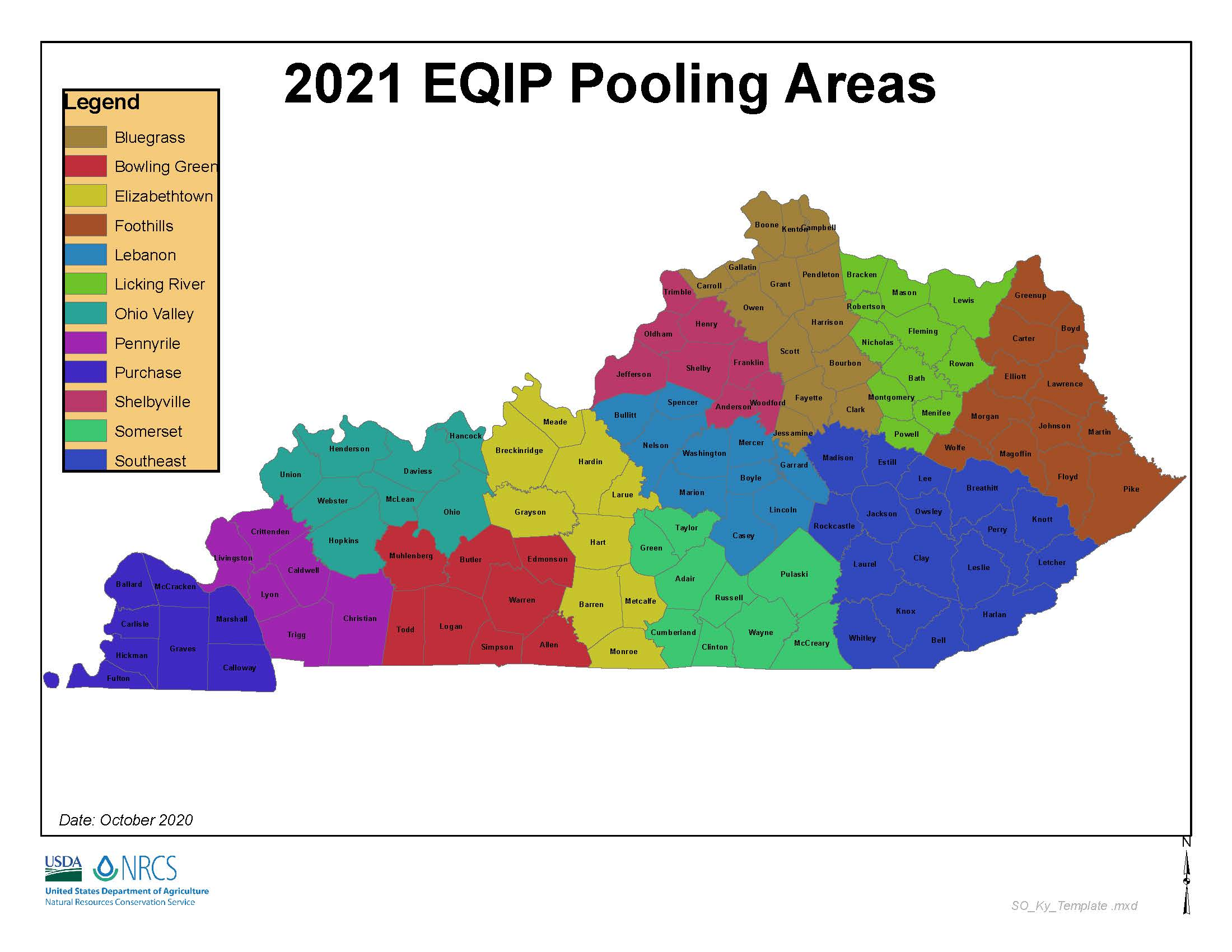 2021 EQIP Pooling Areas Map