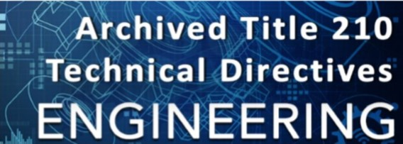 Image for Archived Engineering Technical Directives