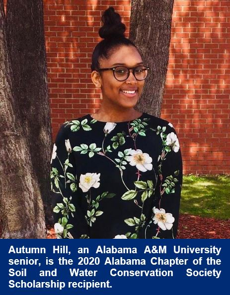 Autumn Hill named 2020 Alabama SWCS Scholar