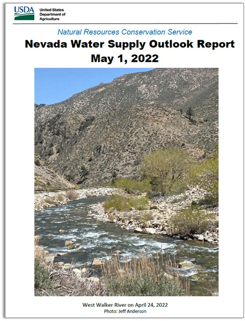 Click on this image to access the Nevada Water Supply Outlook Report