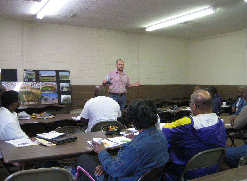 NRCS District Conservationist Frank Cochran gives presentation.