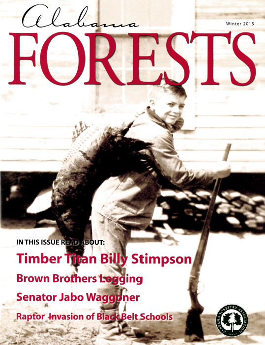 Alabama Forestry Cover for Winter 2015 Issue