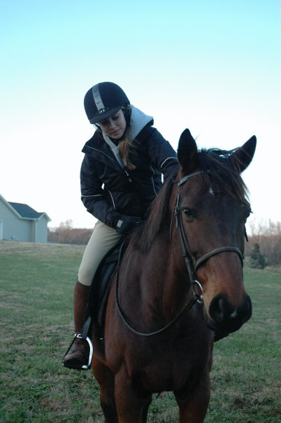 Devon Bullock loves to ride horses when she isn't volunteering.