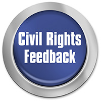 Button for civil rights feedback.