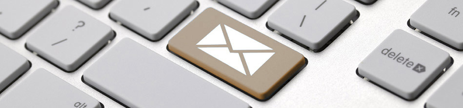 Keyboard showing an icon for email.
