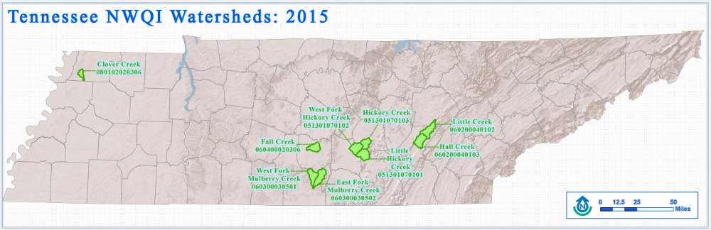 NWQI Watersheds 2015