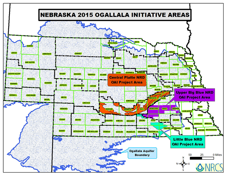 Map Of Nebraska Natural Resources Districts
