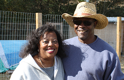 Patricia and Clarence Lyons, farmers in Hoke County