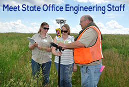 Curt Fopma (right) provides training to NRCS employees in Iowa.