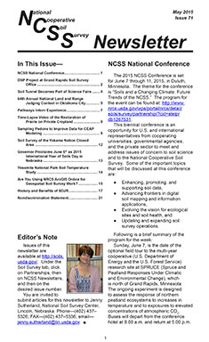 Thumbnail of an NCSS newsletter.
