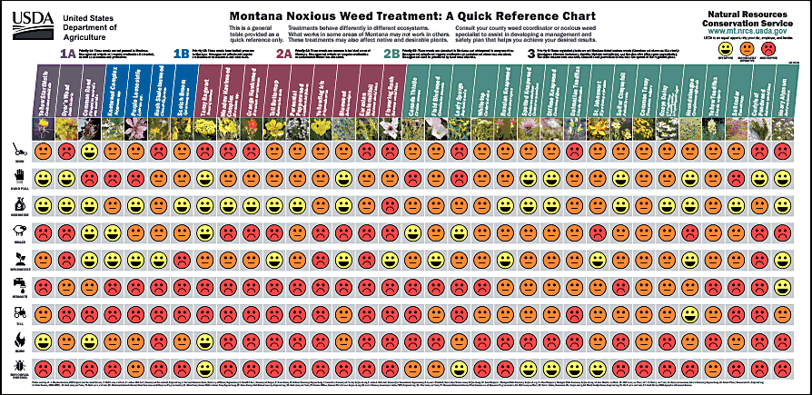 Montana noxious weed quick reference chart