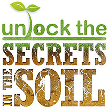 Unlock the secrets in the soil logo