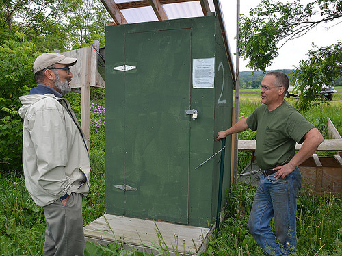NRCS Soil Conservationist Danny Peet, left, worked with Vermont farmer Lorenzo Whitcomb to implement